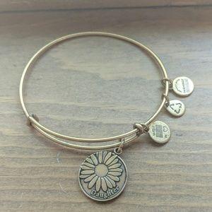 Alex and Ani daughter charm bangle bracelet